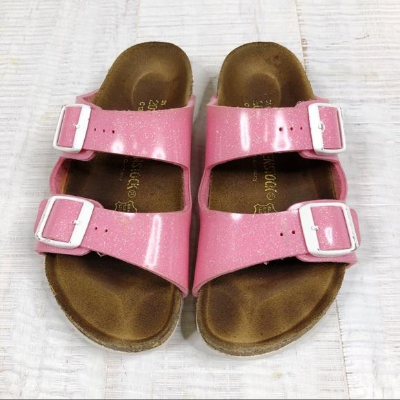 Birkenstock Sandal Girl Shoes Pink Glitter Size 13